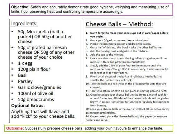 Cheese Balls Recipe Card
